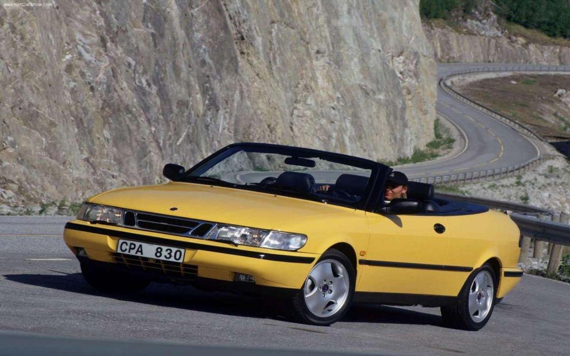 cars Saab vehicles yellow cars wallpaper