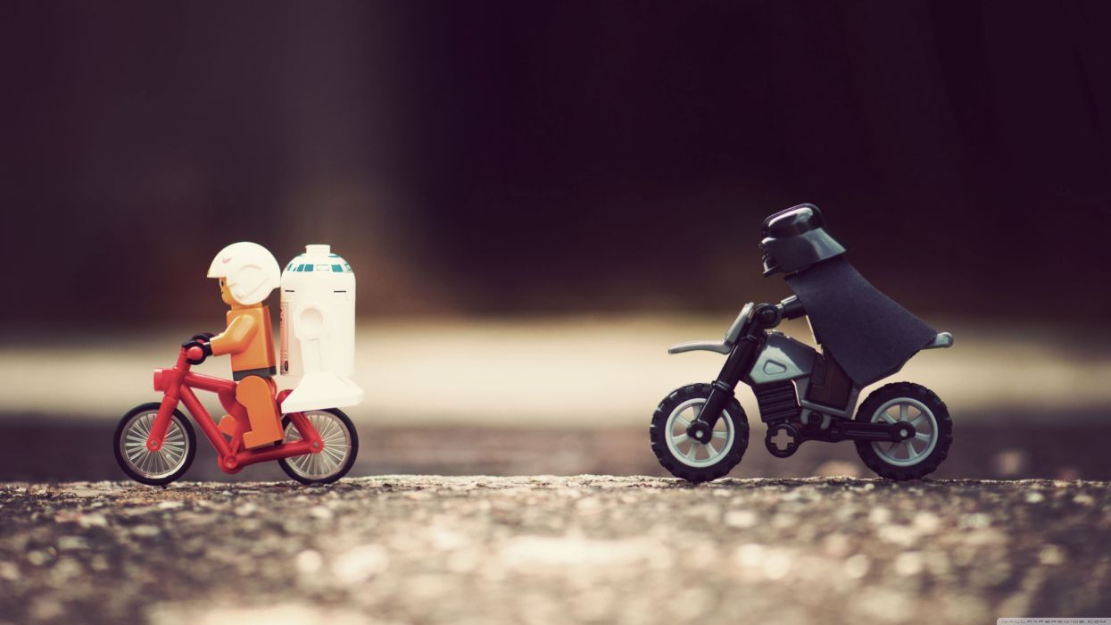 Star Wars bike funny Legos wallpaper