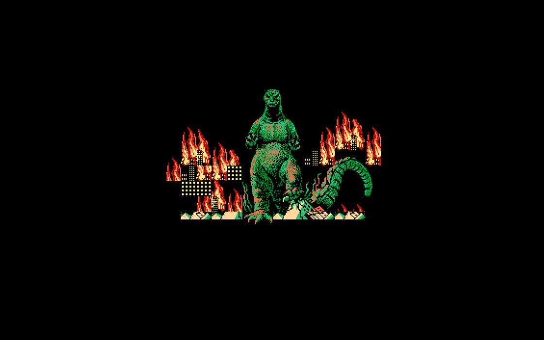 Godzilla simple background wallpaper