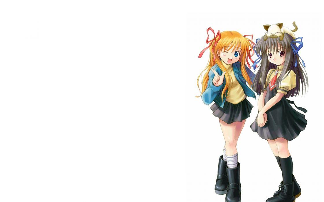 Kanon anime white background Sawatari Makoto wallpaper