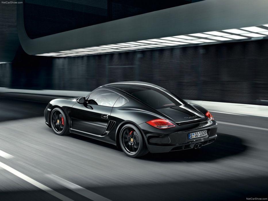 cars Porsche Cayman S Black edition wallpaper