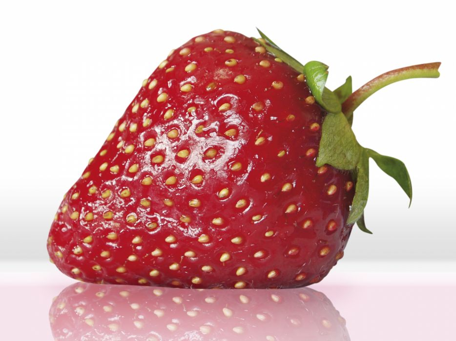 fruits food strawberries white background wallpaper