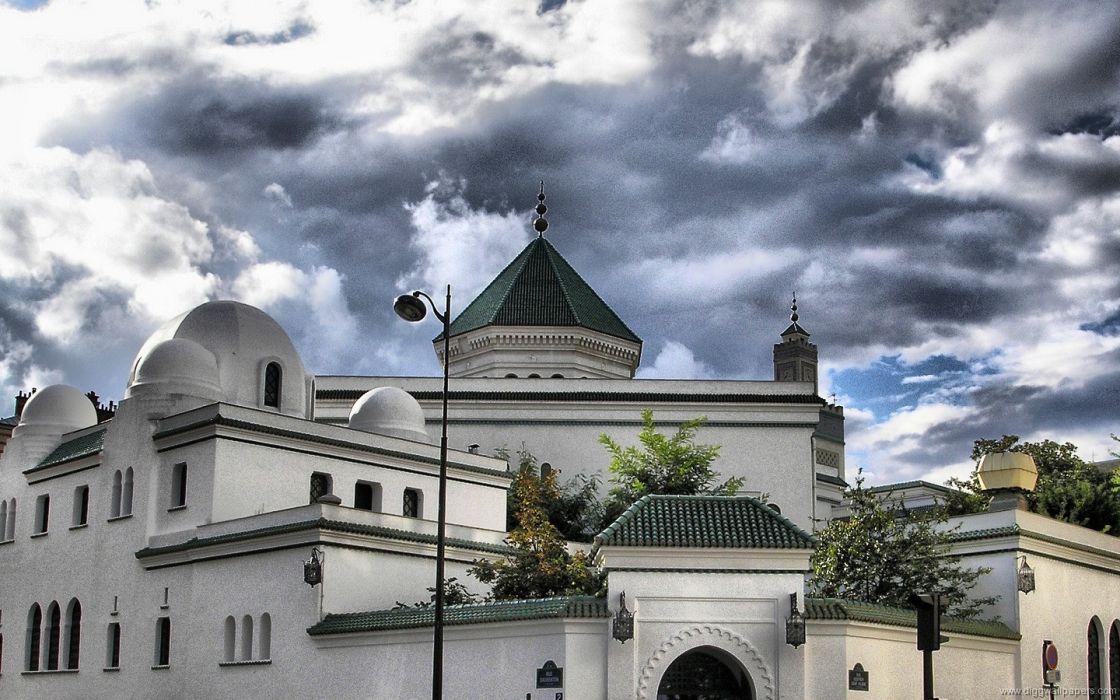 Paris grand Islam Arabian mosques wallpaper