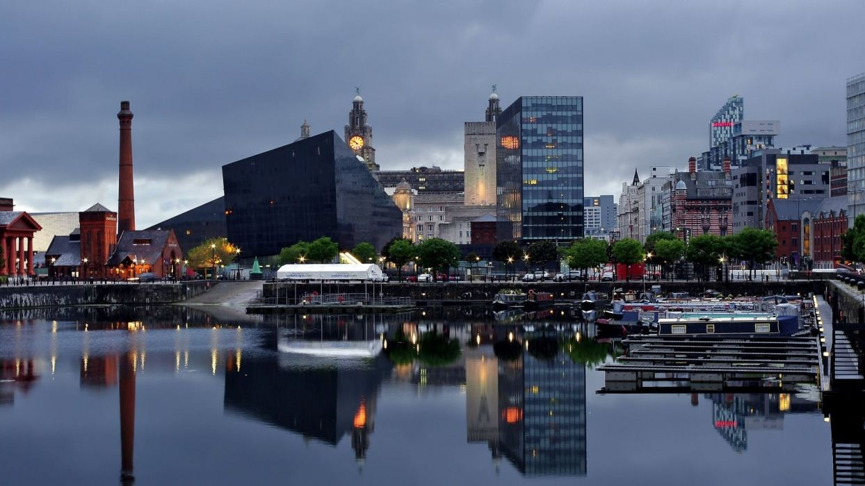 Liverpool buildings cities wallpaper