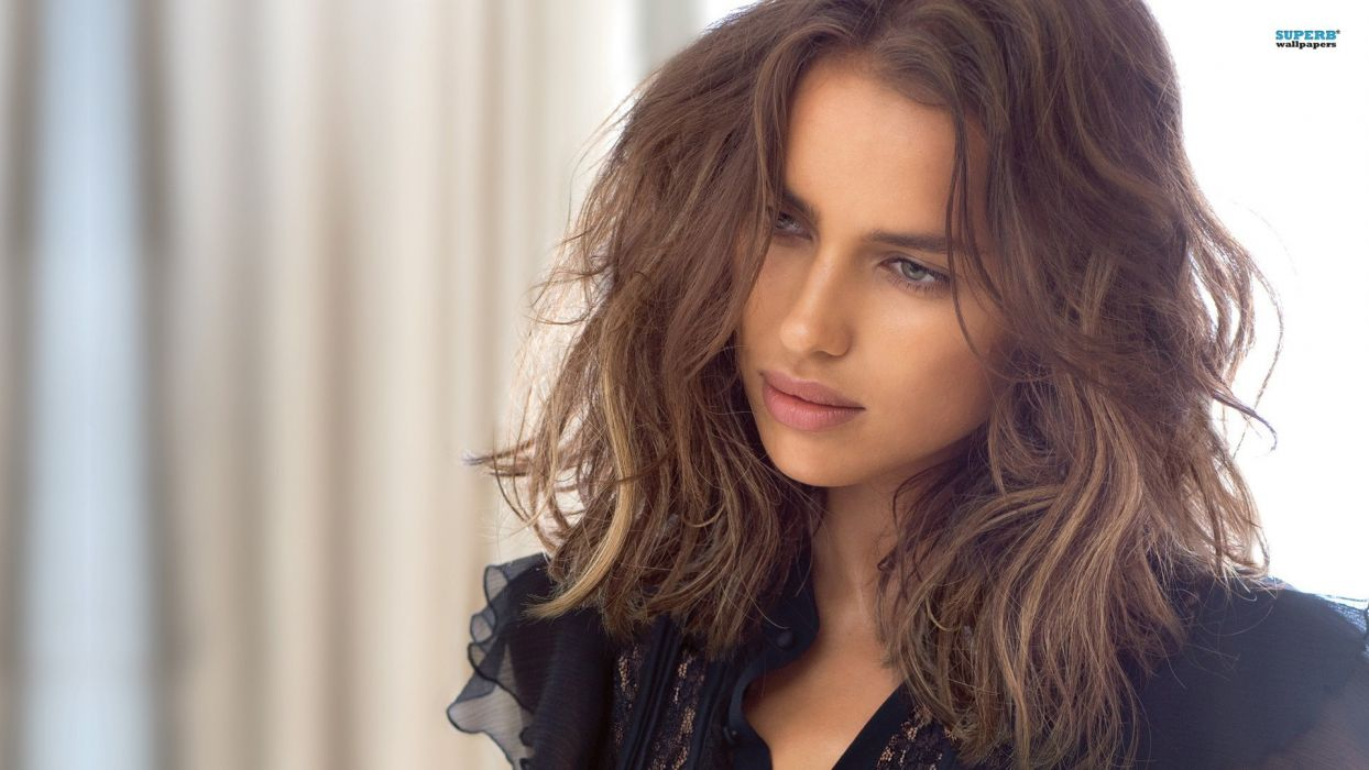 brunettes women long hair celebrity Irina Shayk wallpaper