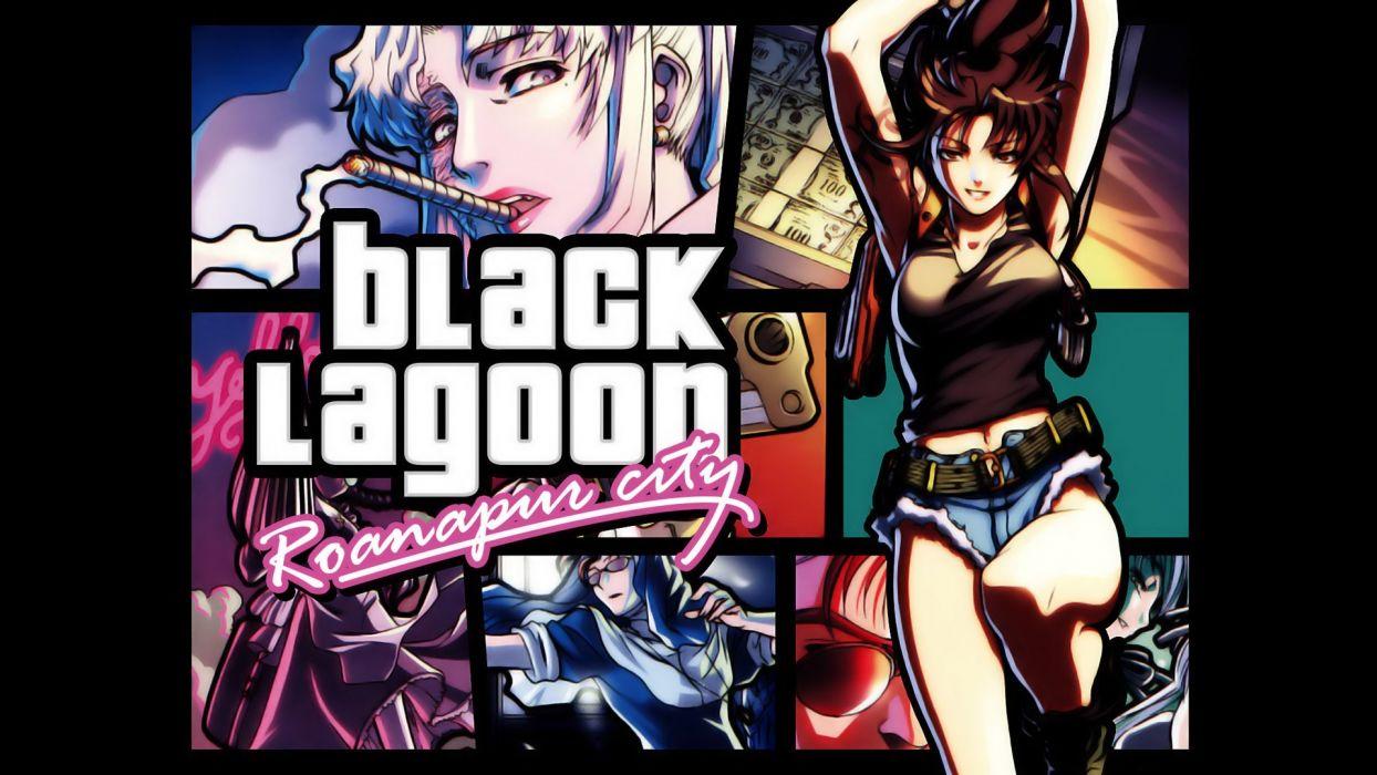 Black Lagoon Revy anime girls wallpaper