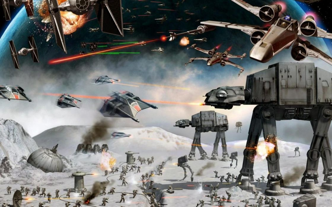 Star Wars AT-AT science fiction wallpaper