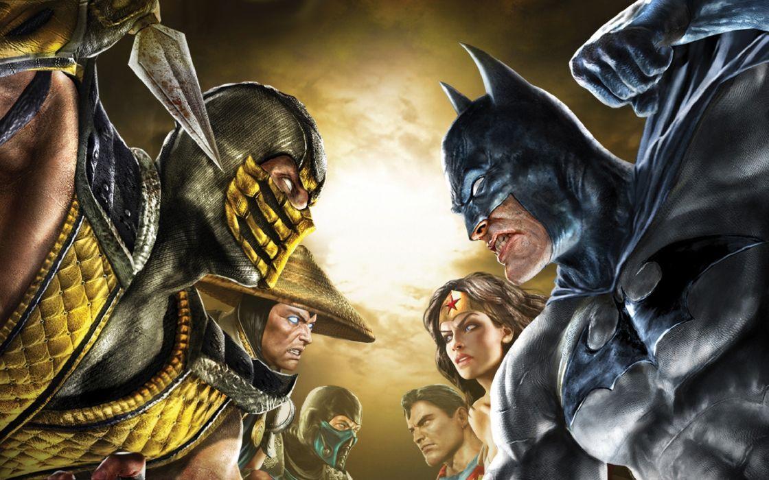 Batman DC Comics Superman scorpion Mortal Kombat Sub-Zero Raiden conical hats Wonder Woman wallpaper