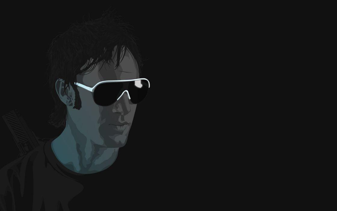 minimalistic vectors sunglasses wallpaper