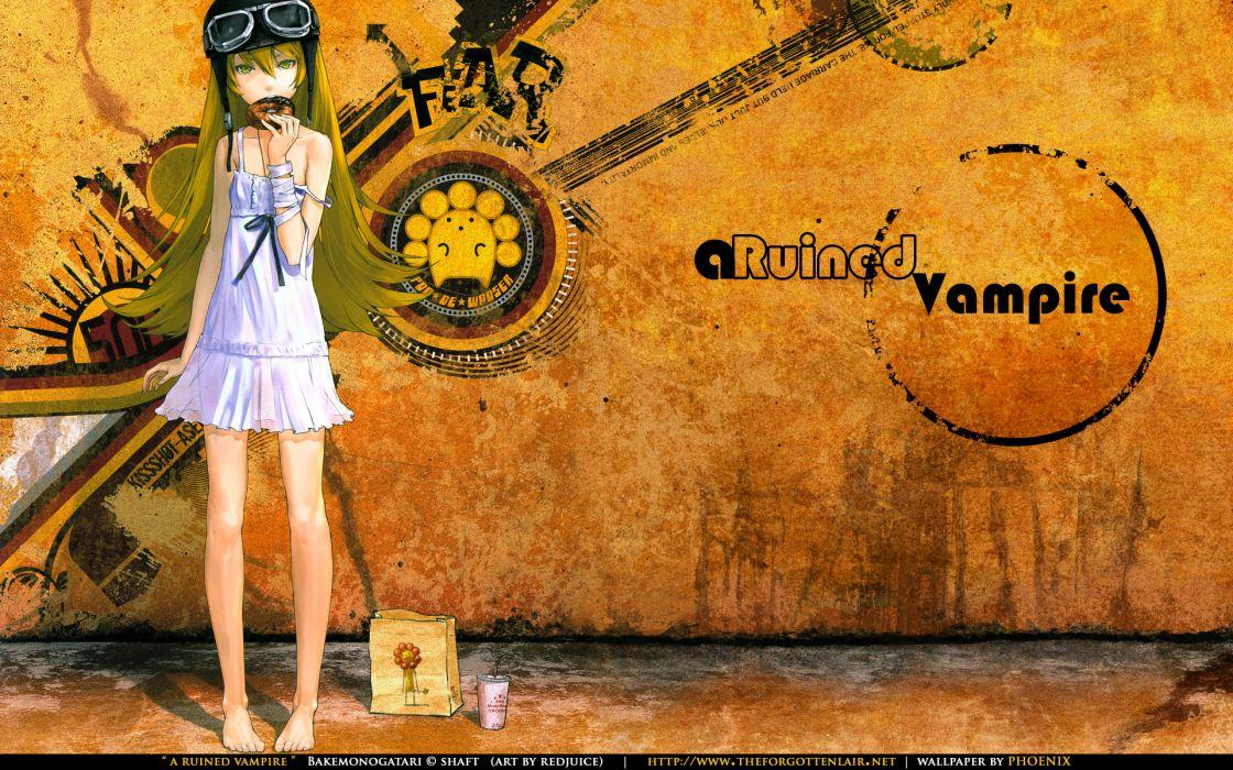 Bakemonogatari Oshino Shinobu Monogatari series wallpaper