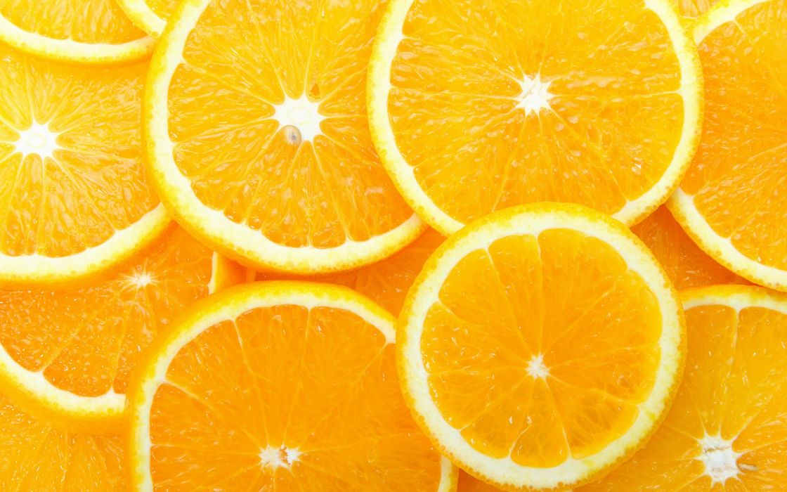 fruits food oranges orange slices wallpaper