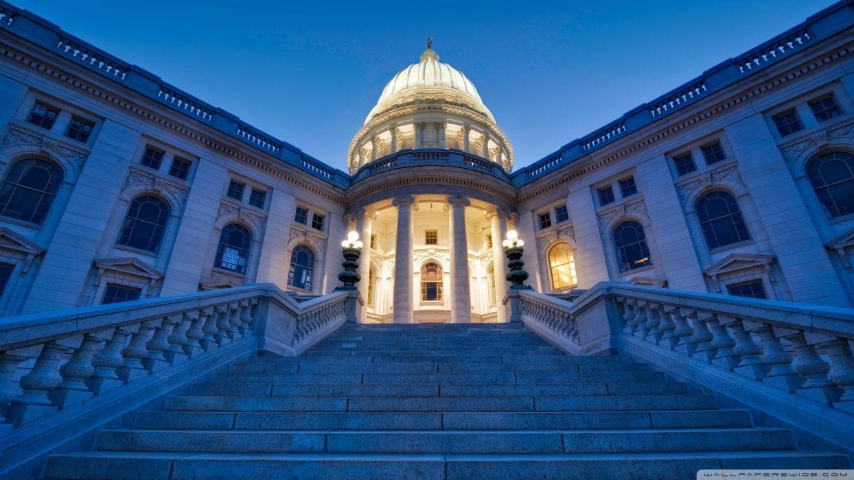 architecture design USA stairways Wisconsin state wallpaper