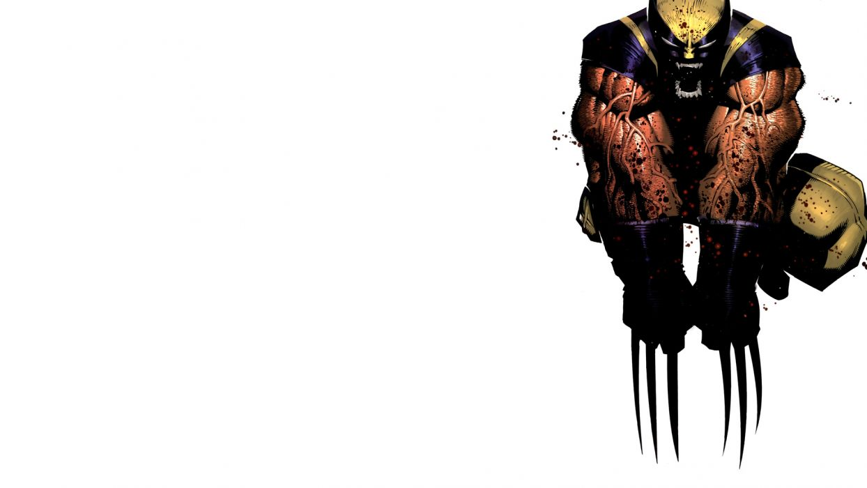 Wolverine Marvel Comics white background wallpaper