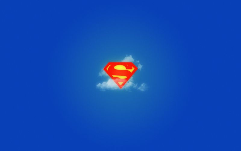 blue minimalistic Superman logos Superman Logo wallpaper