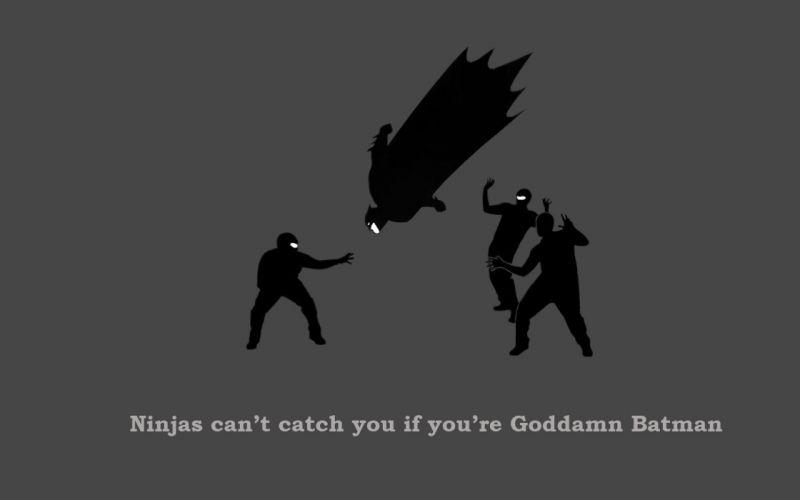Goddamn Batman ninjas cant catch you if wallpaper