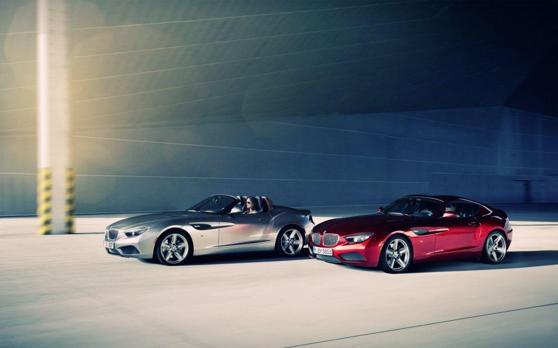 sunrise BMW cars wheels races two wallpaper