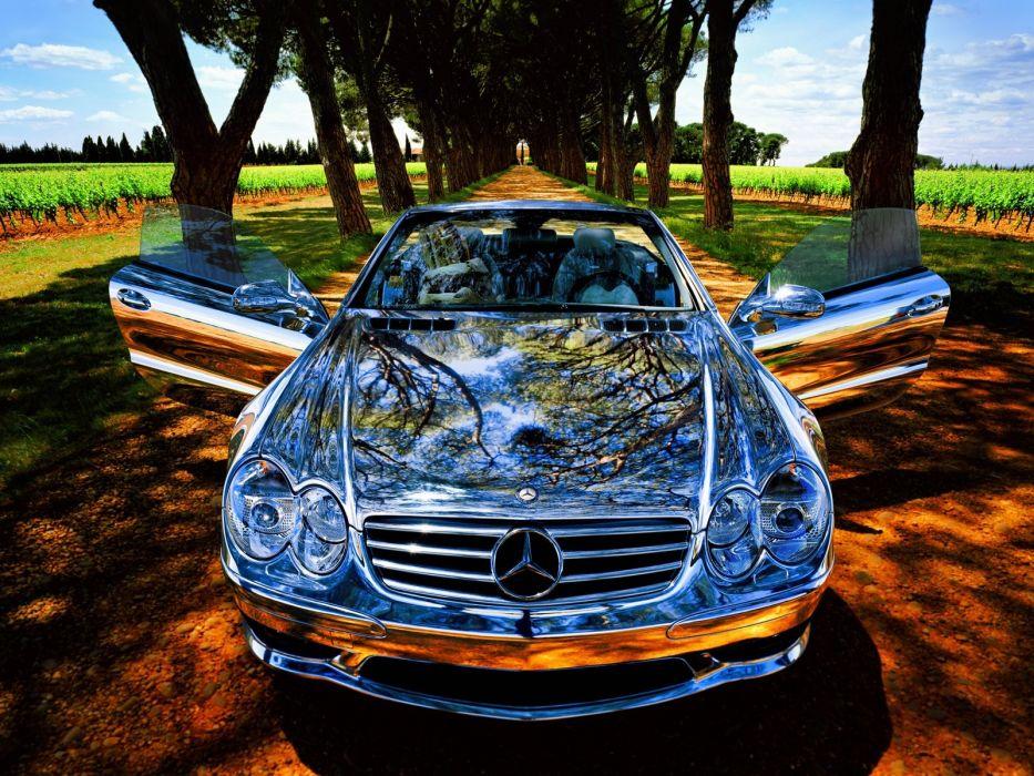 cars chrome vehicles Mercedes-Benz wallpaper