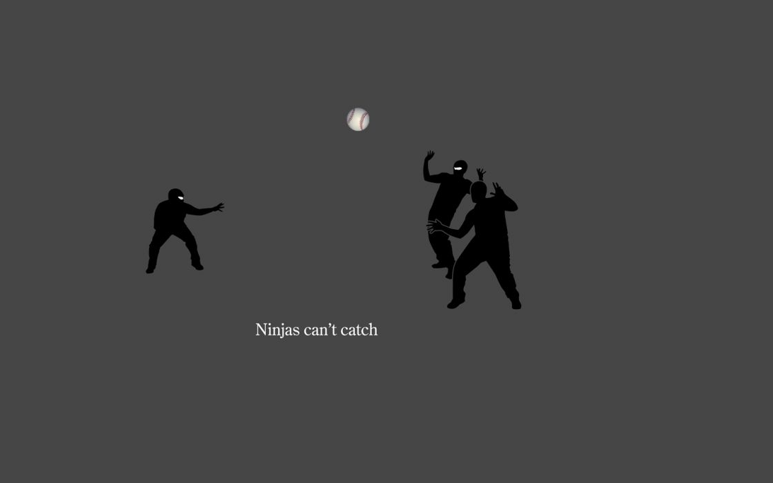 ninjas ninjas cant catch you if wallpaper