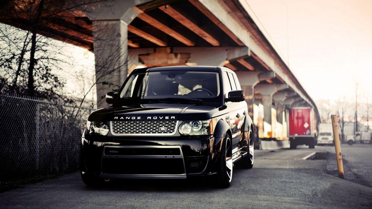 streets cars bridges vehicles Range Rover SUV Land Rover Range Rover Vogue wallpaper
