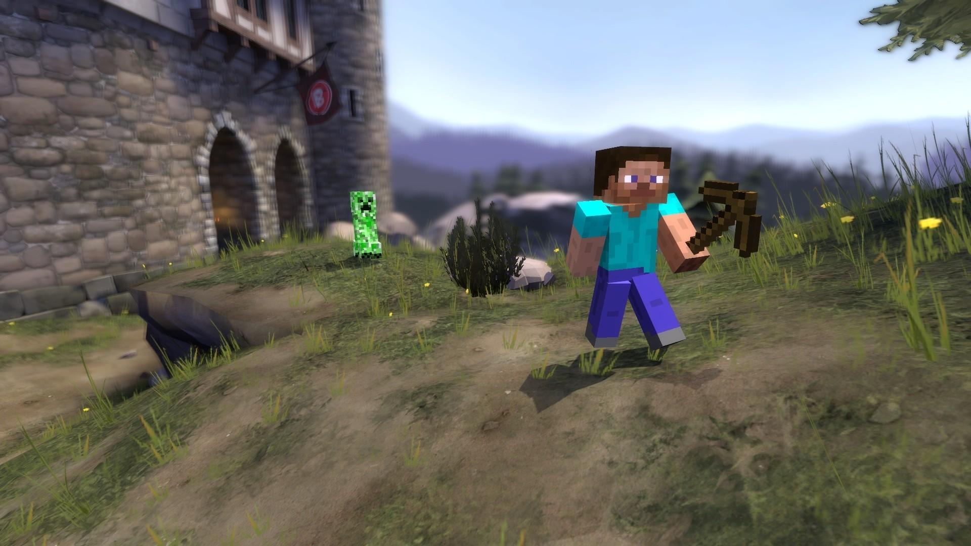 Video Games Gmod Minecraft Team Fortress 2 Wallpaper