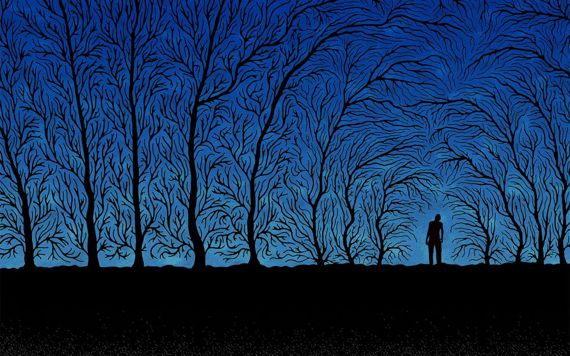 blue dark lonely wallpaper