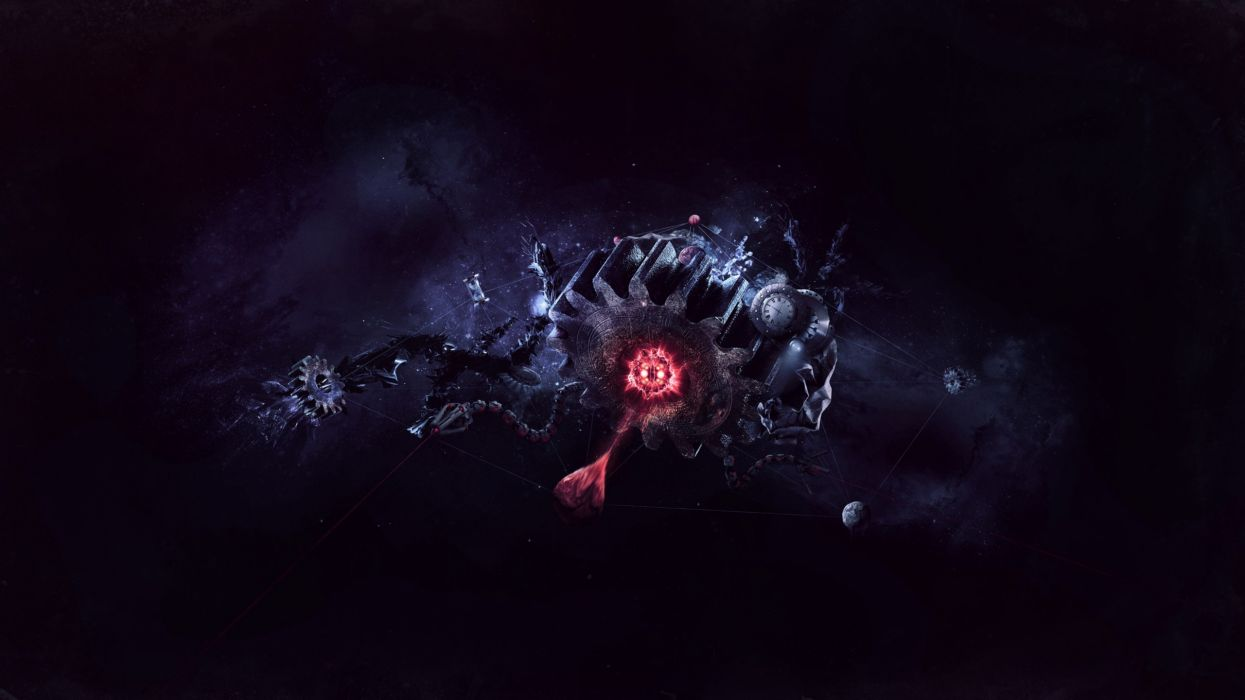 abstract gears wallpaper