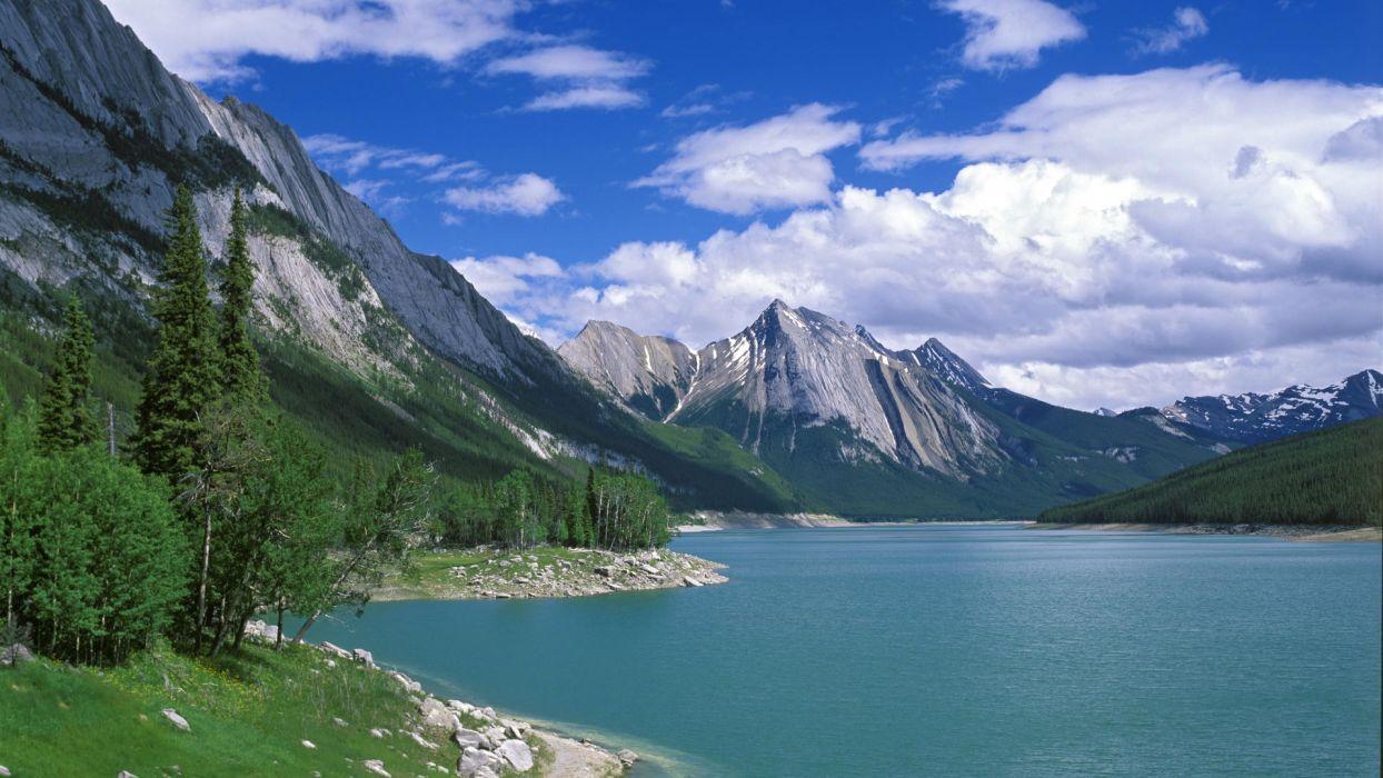 landscapes medicine Canada Alberta lakes National Park Jasper National Park wallpaper