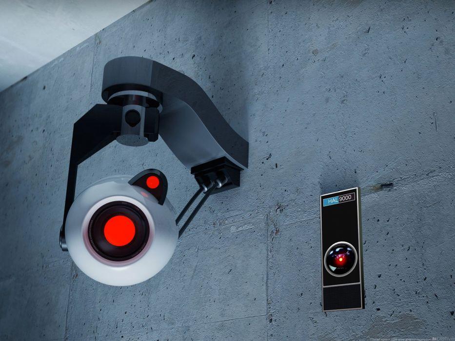 Valve Corporation Portal GLaDOS Aperture Laboratories HAL9000 wallpaper