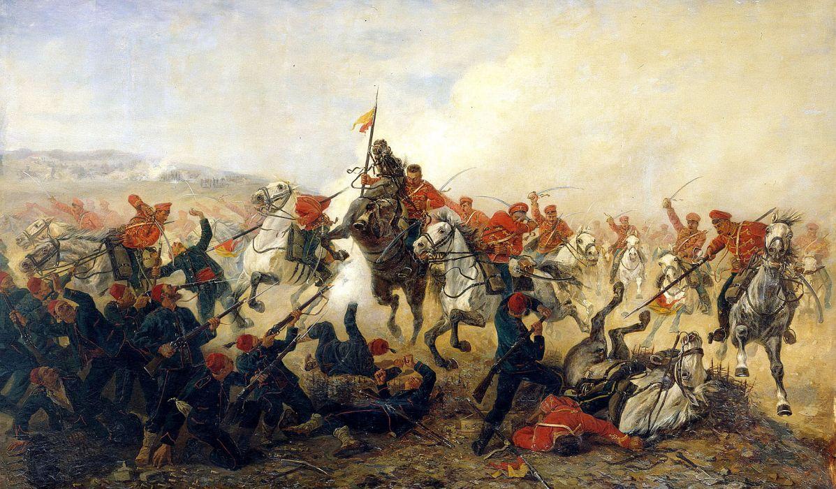 artist Mazurovskii centuries military battle art painting wallpaper