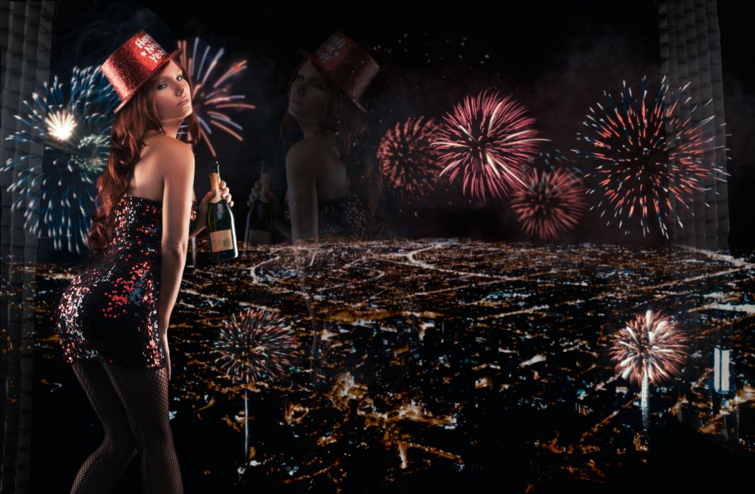 tancy marie new year fireworks night city wallpaper