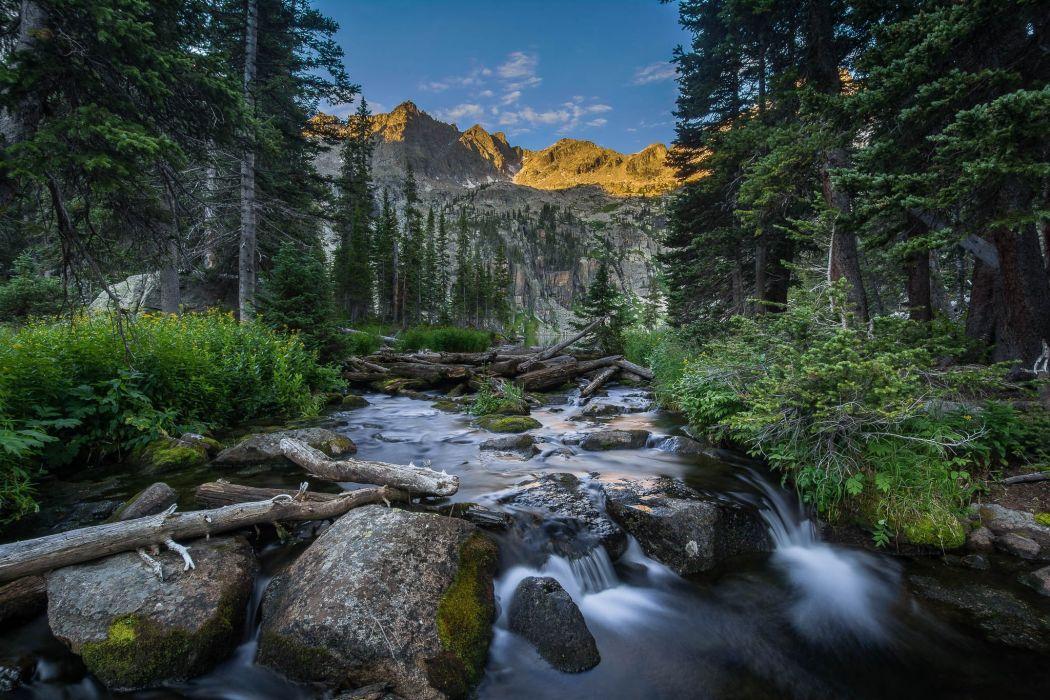 Colorado river trees mountains landscape wallpaper
