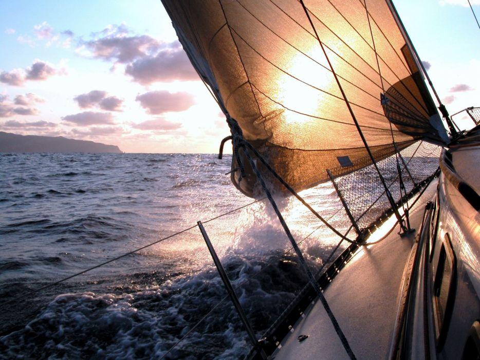 mood wind ocean scenery wallpaper