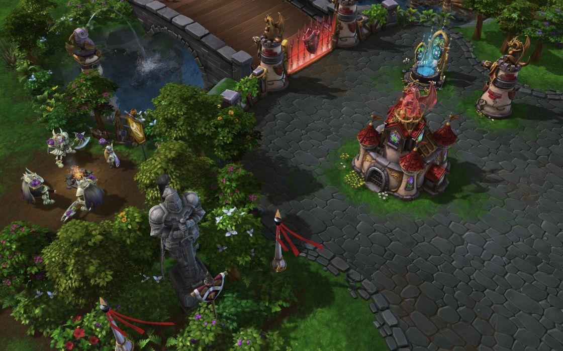 HEROES OF THE STORM Warcraft Diablo StarCraft fantasy sci-fi (1) wallpaper