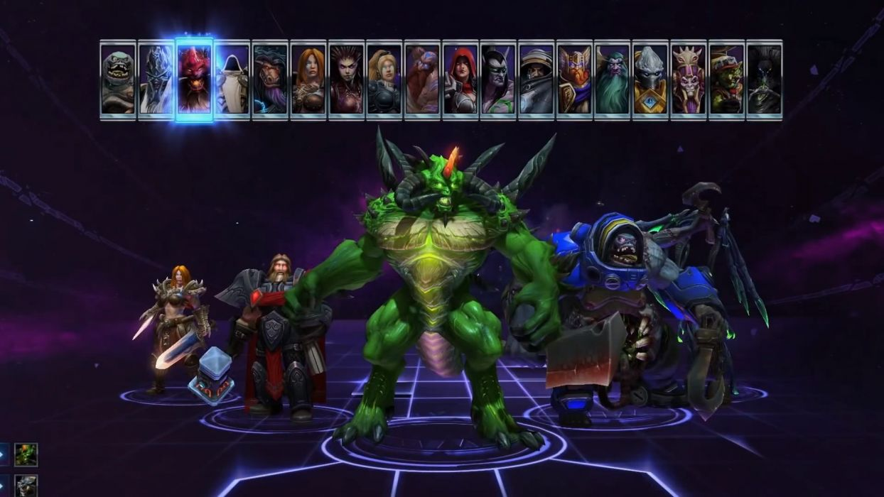 HEROES OF THE STORM Warcraft Diablo StarCraft fantasy sci-fi (2) wallpaper