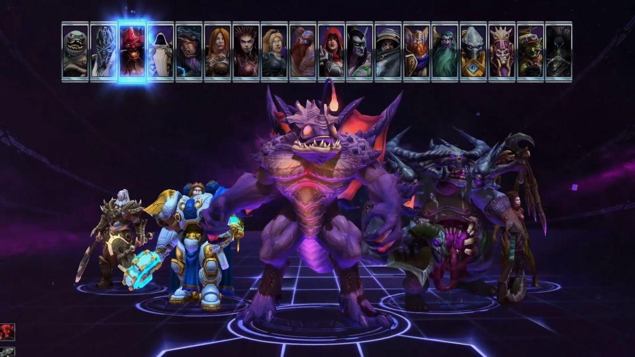 HEROES OF THE STORM Warcraft Diablo StarCraft fantasy sci-fi (4) wallpaper