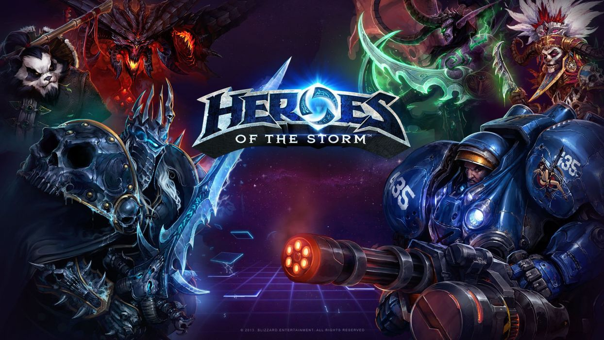 HEROES OF THE STORM Warcraft Diablo StarCraft fantasy sci-fi (10) wallpaper