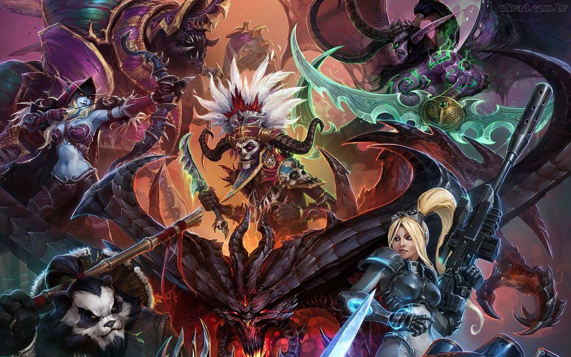 HEROES OF THE STORM Warcraft Diablo StarCraft fantasy sci-fi (27) wallpaper