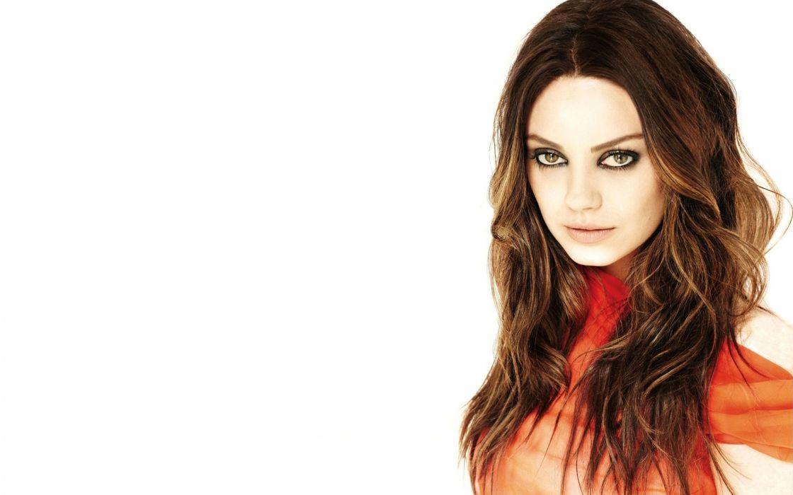 brunettes women Mila Kunis actress wallpaper