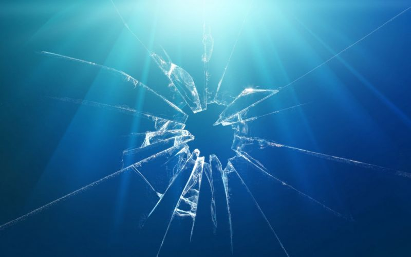 blue minimalistic glass broken glass wallpaper