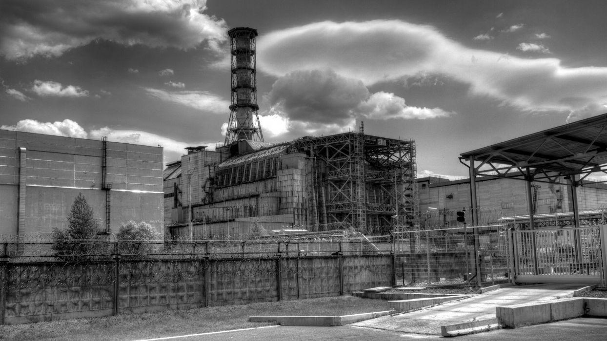 landscapes cityscapes Pripyat Chernobyl HDR photography coal plant wallpaper