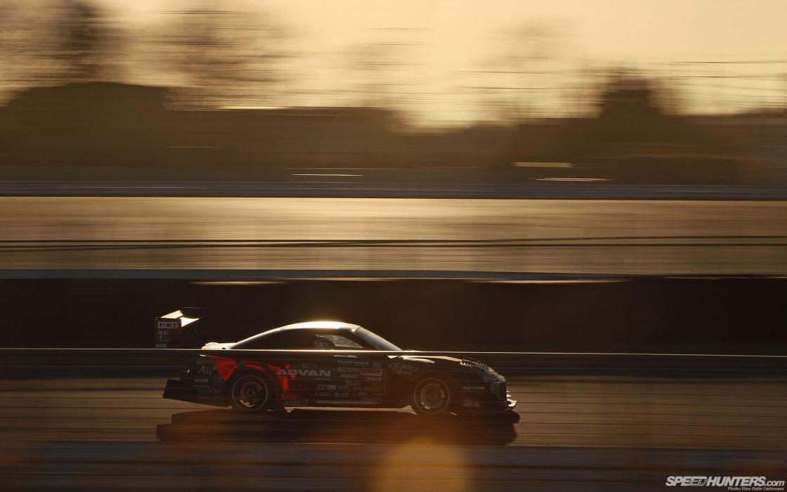 sunset Nissan racer Nissan Silvia S14 drift speed hunters wallpaper