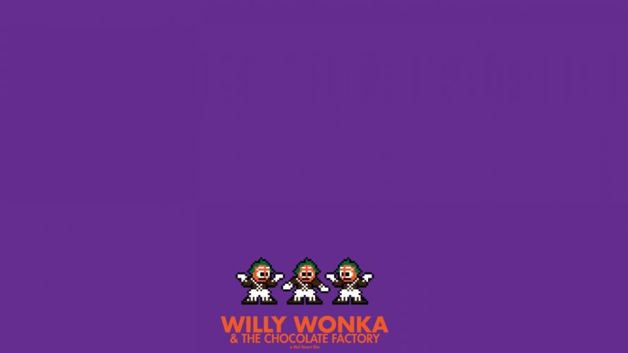 movies posters Willy Wonka chocolate factory 8-bit wallpaper