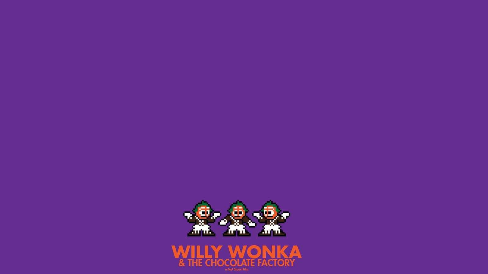 movies posters willy wonka chocolate factory 8 bit