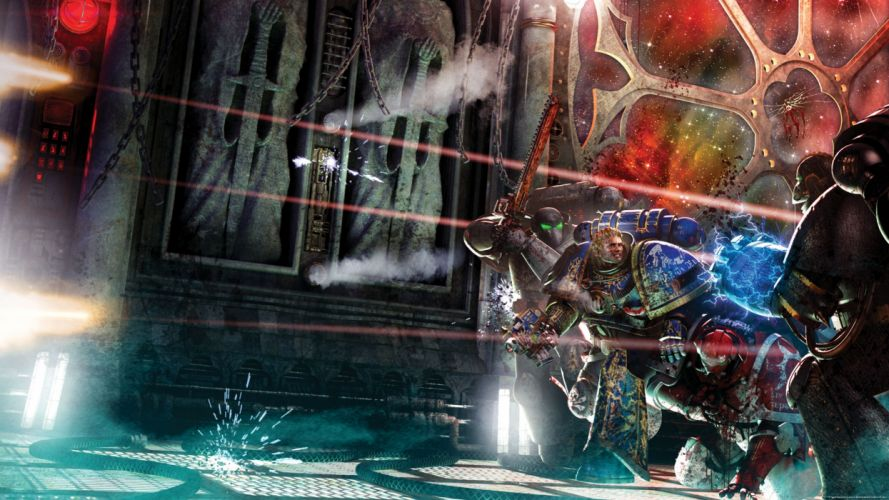space marines battles science fiction wallpaper