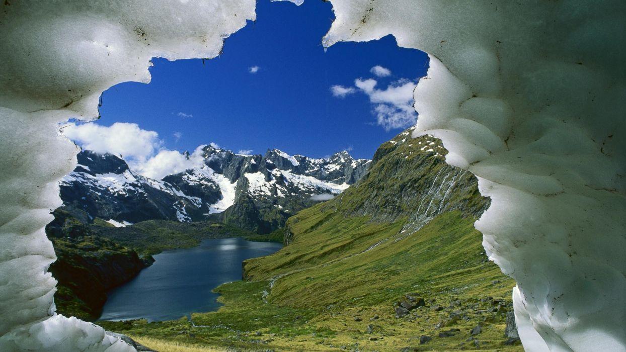 mountains New Zealand National Park wallpaper
