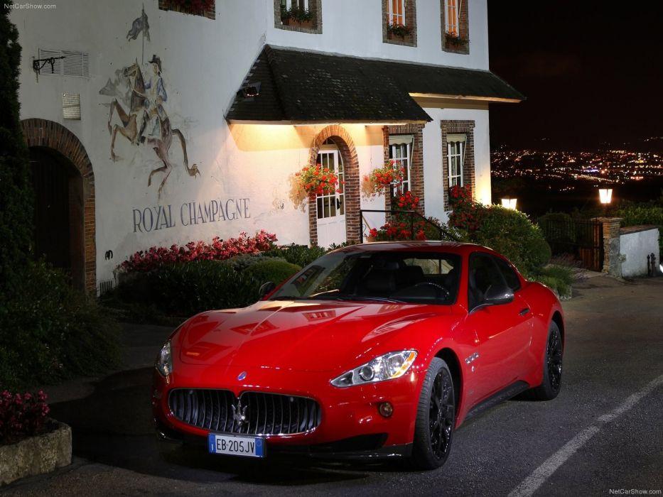 red cars vehicles red cars Maserati GranTurismo wallpaper