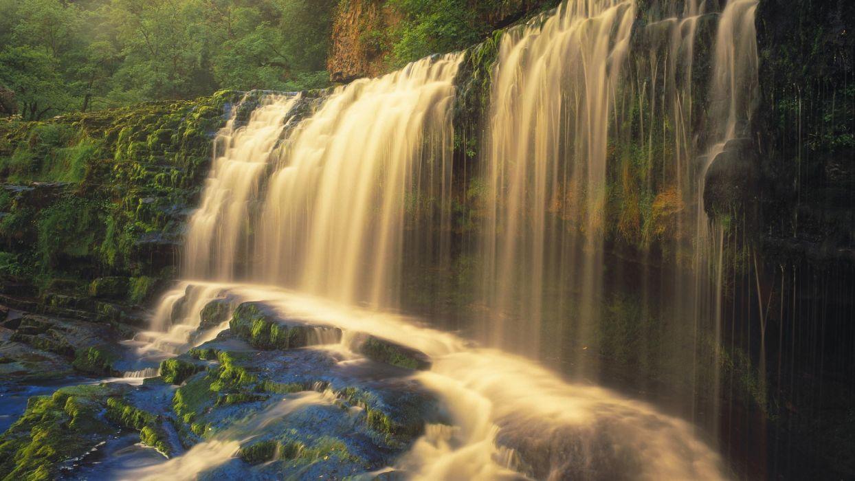 landscapes United Kingdom waterfalls National Park wallpaper