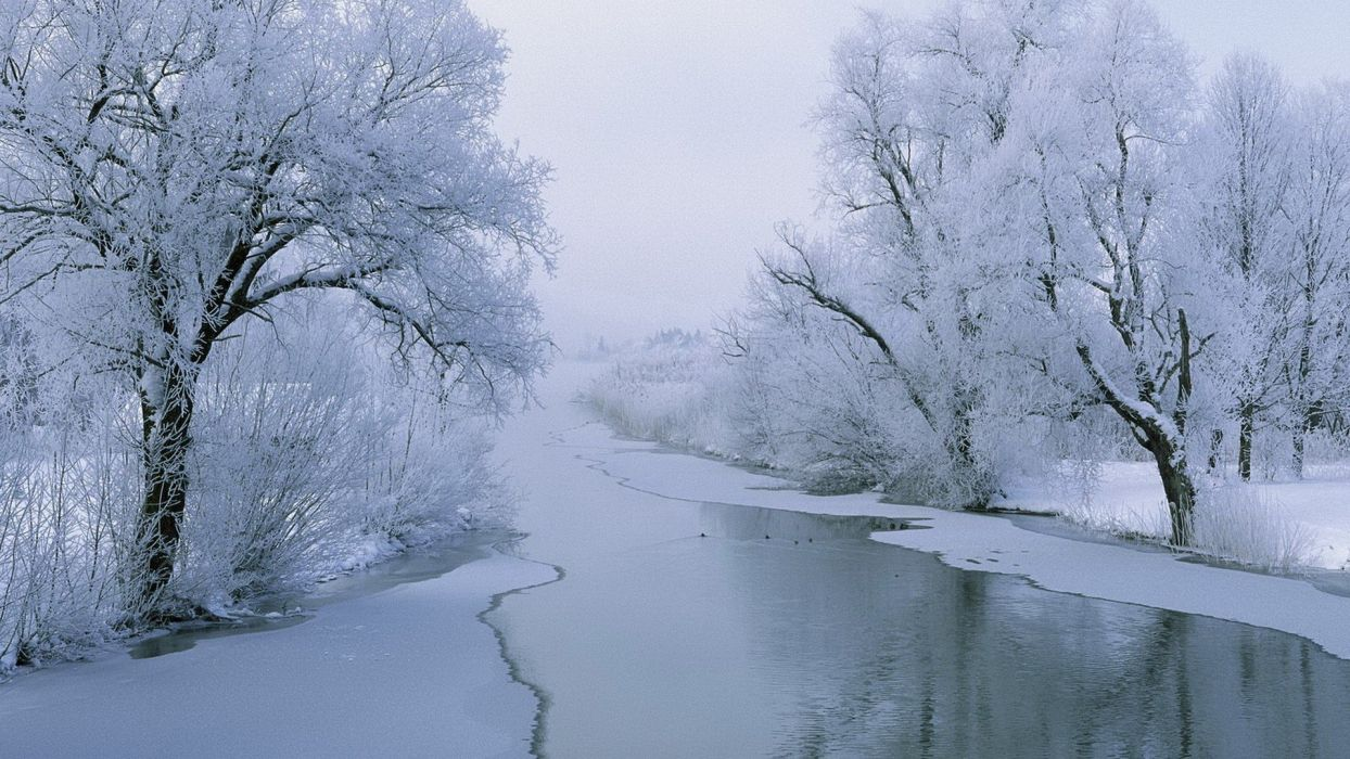 landscapes nature winter glacier rivers wallpaper
