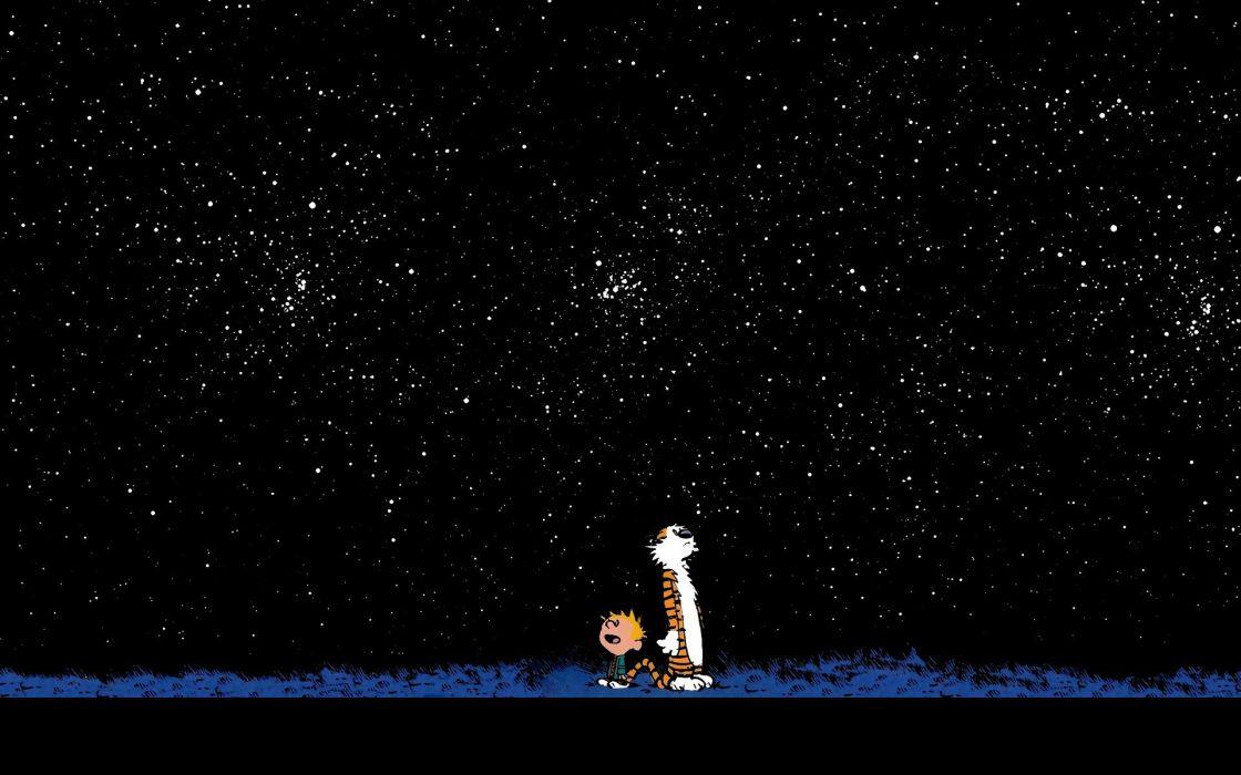 Calvin and Hobbes wallpaper