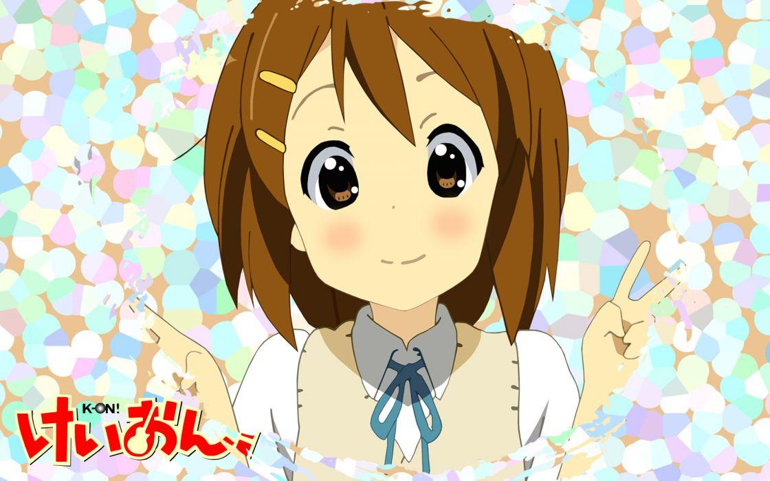 K-ON! school uniforms Hirasawa Yui anime girls wallpaper